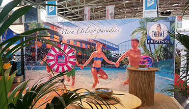 f.re.e Messestand Therme Erding